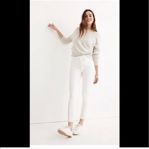 """Madewell 10""""High Rise Skinny crop white jeans 27"""""""